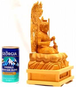 【不動明王・座像(入魂仏)】本格手彫り木製仏像