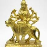 ▲[女神ドゥルガー像]本格金属神像(パンチャローカム)
