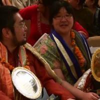 マハーリシ(偉大なる聖者)の称号を夫婦共にツインソウル受賞