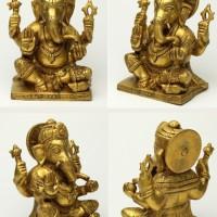 ガネーシャ神像(真鍮製、約1.8kg)【入魂済み】