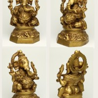 ガネーシャ神像(真鍮製、約2.6kg)【入魂済み】