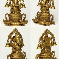 ガネーシャ神像(真鍮製、約2.1kg)【入魂済み】