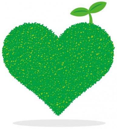 緑のハート エコ