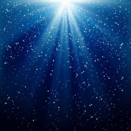 background of blue luminous rays